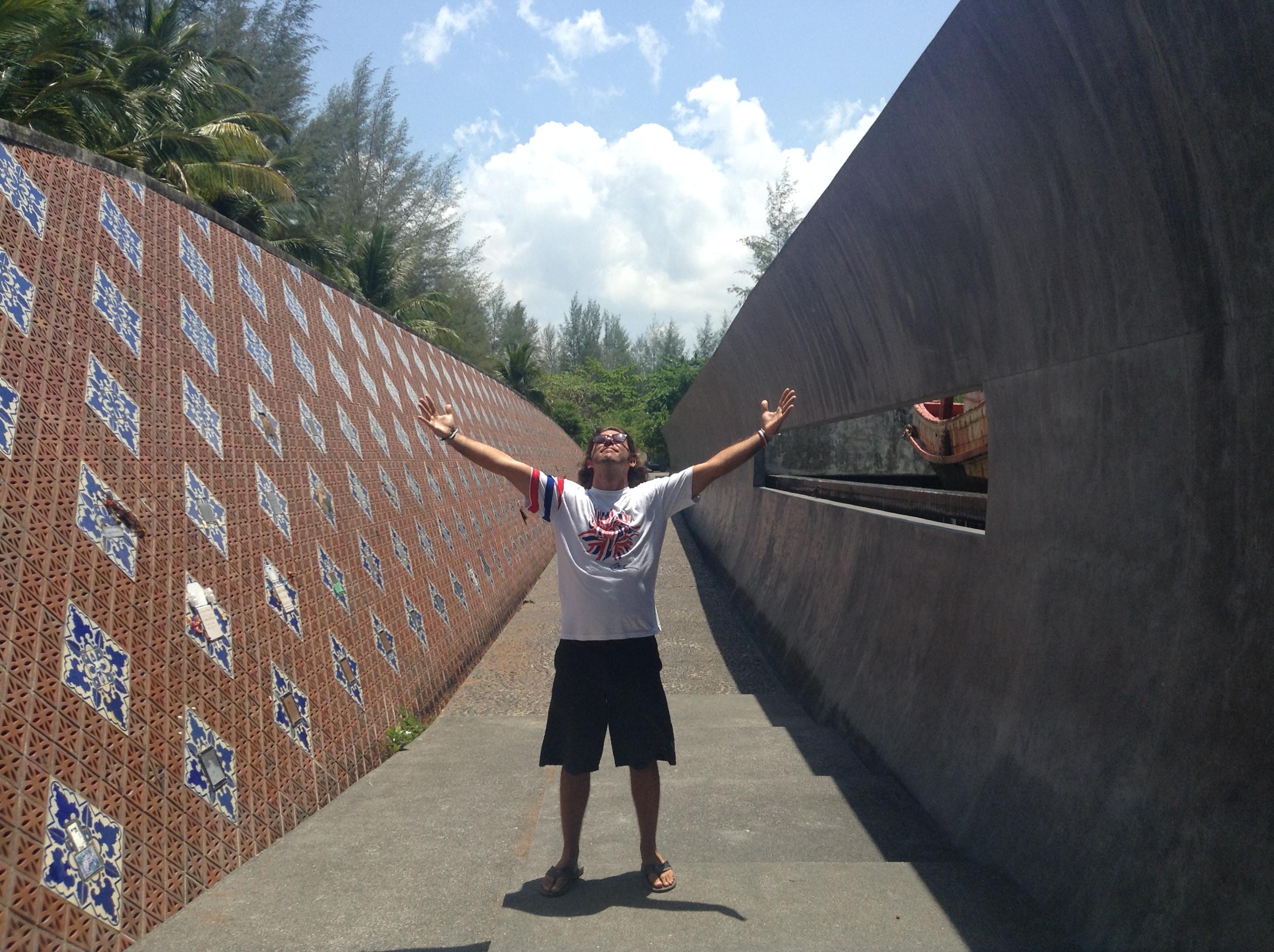 Me, at the Ban Nam Khem Tsunami Memorial in rural Phangnga Province, Thailand