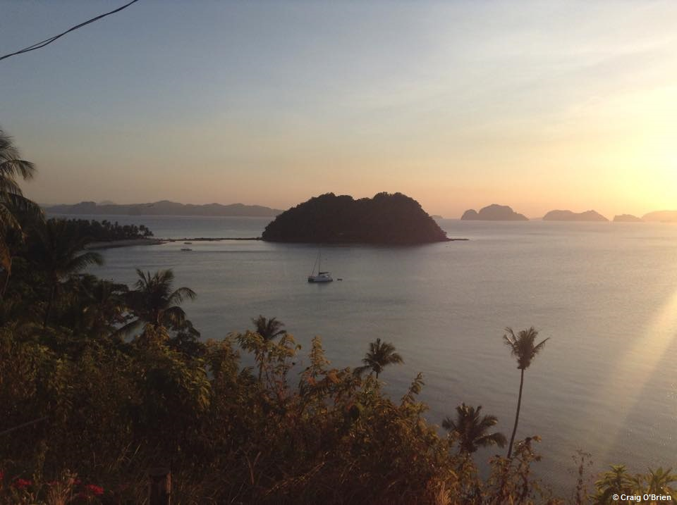 Sunset in El Nido on Palawan; considered to be the last great 'frontier' of the Philippines